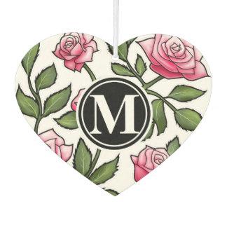 Elegant Floral and Monogram Air Freshener