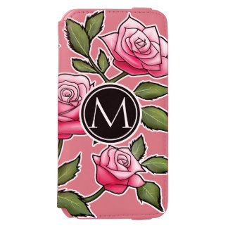 Elegant Floral and Monogram Incipio Watson™ iPhone 6 Wallet Case