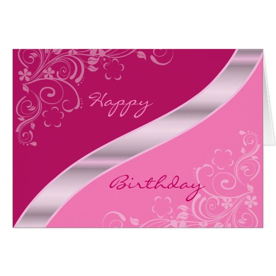 Elegant Floral Birthday Cards