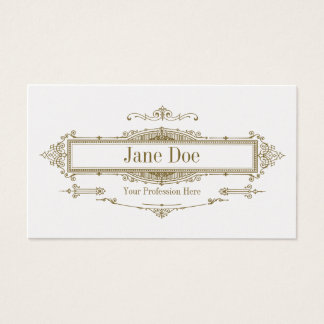 Elegant floral borders, premium gold business card