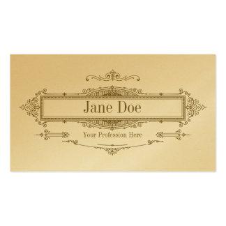 Elegant floral borders, premium gold business cards