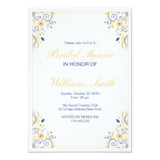 Elegant Floral Bridal Shower Invitaton Card