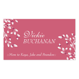 Elegant Floral Business Card