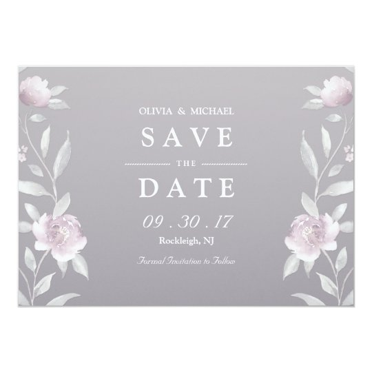 Elegant floral Chinoiserie Wedding save the date Card