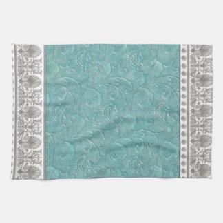 Elegant floral decoration hand towels