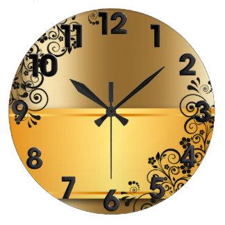 Elegant floral decoration large clock