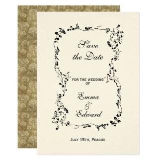 Elegant floral frame Wedding Invitation Card