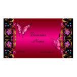 Elegant Floral Gold Pink  Black Butterfly