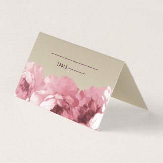 Elegant Floral | Gold Table Place Cards