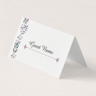 Elegant Floral Guest Name Tag