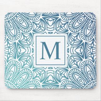 Elegant  Floral Mandala Monogram | Mousepad
