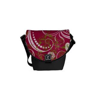 Elegant Floral Messenger Bag