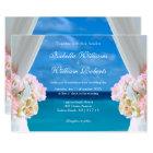 Elegant Floral Ocean Beach Summer Wedding Gate Card