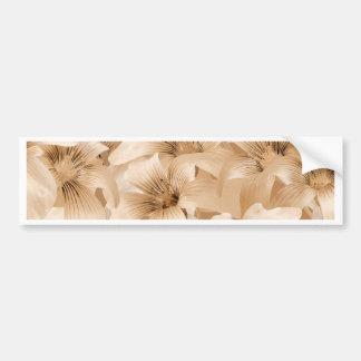 Elegant Floral Pattern in Light Ocher Tones Bumper Sticker