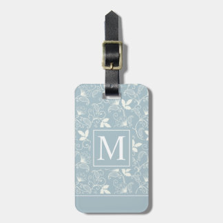 Elegant Floral Pattern Monogram | Luggage Tag