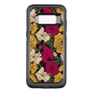 Elegant floral pattern OtterBox commuter samsung galaxy s8 case