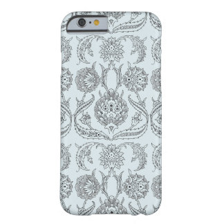 Elegant Floral Pattern Scroll Damask Custom Color Barely There iPhone 6 Case