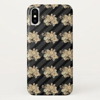 Elegant Floral Pattern / Stripes Case-Mate iPhone Case