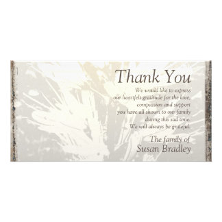 Elegant Floral Pattern Sympathy Thank you P card 2 Custom Photo Card