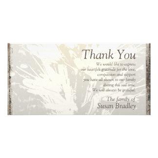 Elegant Floral Pattern Sympathy Thank you P card 2 Custom Photo Card