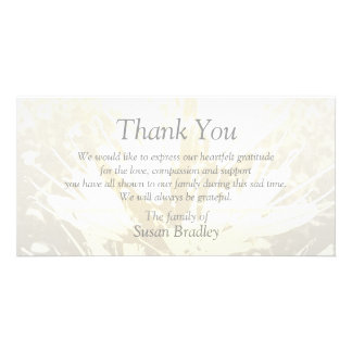 Elegant Floral Pattern Sympathy Thank you P card 2 Picture Card