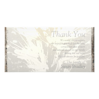Elegant Floral Pattern Sympathy Thank you P card Photo Card Template