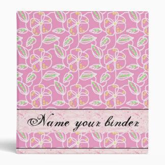 Elegant Floral Pink Binder