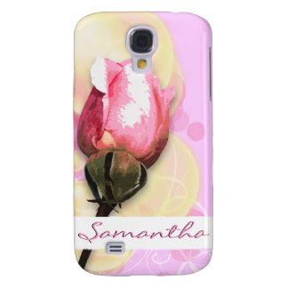 Elegant floral pink swirls