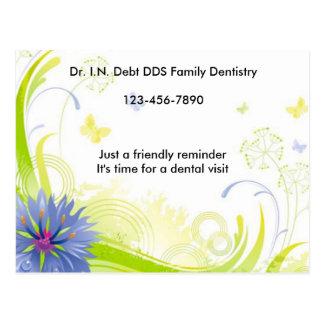 Elegant Floral Reminder appointment Postcard