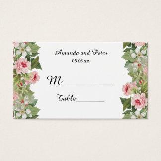 Elegant floral rose place cards