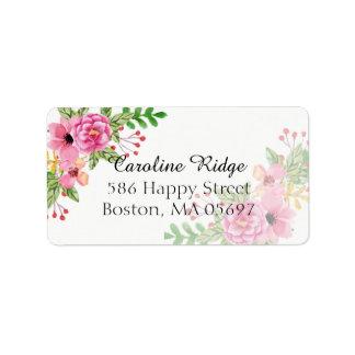 Elegant Floral RSVP Address Label