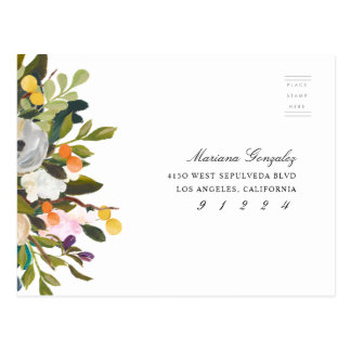 Elegant Floral Rsvp Response Card Wedding Event