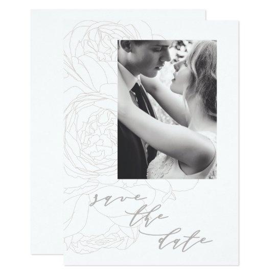 Elegant floral save the date. card