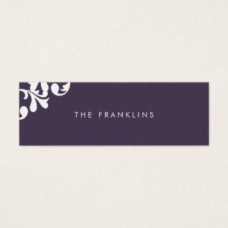 Elegant Floral Skinny Calling Card
