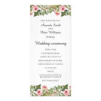 Elegant floral spring / summer wedding program rack cards