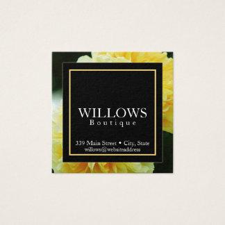 Elegant, Floral, Square Business Card