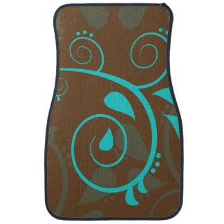 Elegant Floral Swirl Design Floor Mats Floor Mat