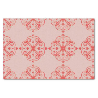 Elegant Floral Tissue Paper Orange Haze