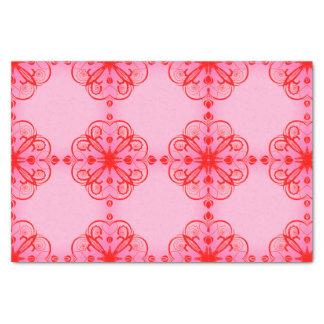 Elegant Floral Tissue Paper Pink