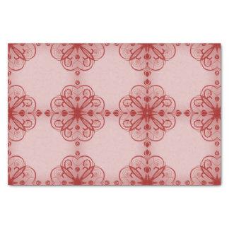 Elegant Floral Tissue Paper Pink Glow
