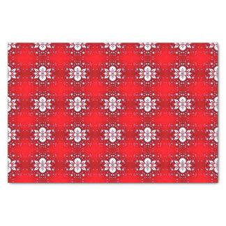 Elegant Floral Tissue Paper Red