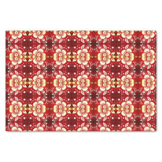 Elegant Floral Tissue Paper Red Flannel
