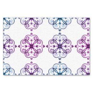 Elegant Floral Tissue Paper Retro