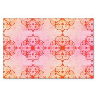 Elegant Floral Tissue Paper Retro Pink
