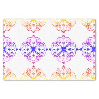 Elegant Floral Tissue Paper Sunset