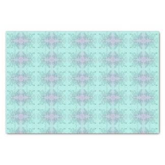 Elegant Floral Tissue Paper Turquoise