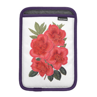 ELEGANT FLORAL VINTAGE RED FLOWERS iPad MINI SLEEVES