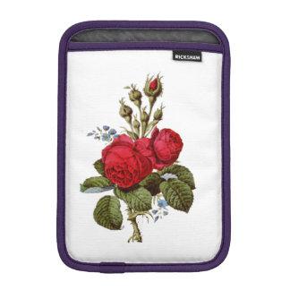 ELEGANT FLORAL VINTAGE RED ROSES iPad MINI SLEEVE