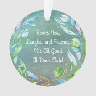 Elegant Floral Water Color Book Club / Book Group Ornament