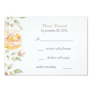"Elegant Floral Watercolor Wedding RSVP Cards 3.5"" X 5"" Invitation Card"